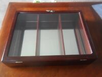 SMALL MIRRORED DISPLAY CABINET.