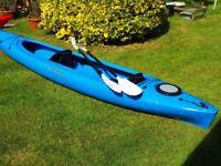 PERCEPTION KAYAK PRODIGY II 14.5 - Sit in kayak. Open cockpit. Tandem + paddles