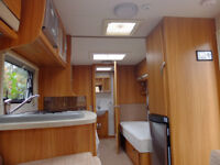 LUNAR ULTIMA 554 2013 TWIN BED 4 BERTH TOURING CARAVAN WITH MOTOR MOVER,AWNING AND MANY EXTRAS