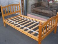 Single 3 Foot 6 Inch Bed Frame in Solid Pine