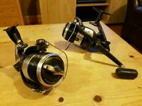 2 shimano biomaster xta 8000 and spare spools