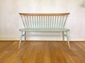 Vintage Ercol original loveseat bench sofa