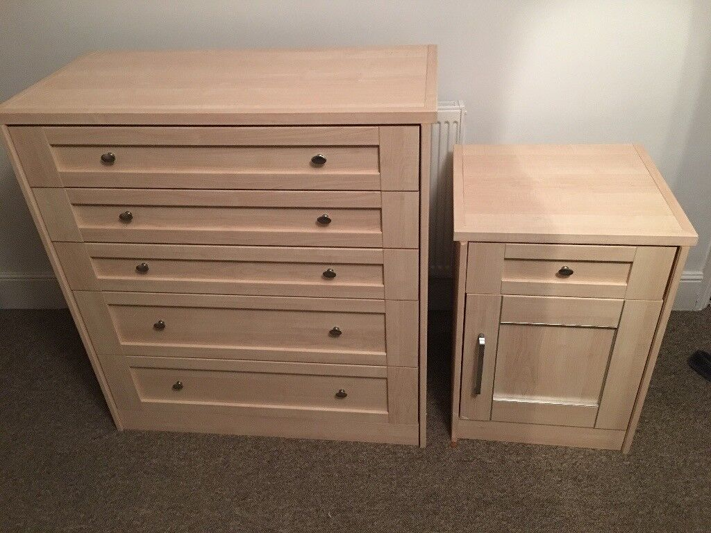 Chest of Drawers with Matching Side Table - High Quality