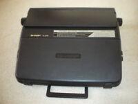 Electronic Typewriter Portable - Sharp PA 3100S (Black)