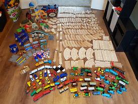 Huge Wooden Railway Bundle