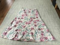 Laura Ashley 100% Linen Skirt.