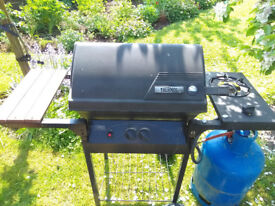 Two burner gas barbeque.