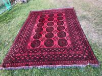 Large Handmade wool Bokhara Rug