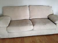 3 seat sofa, beige.