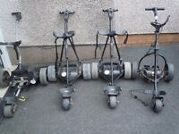 SELECTION OF ELECTRIC GOLF TROLLYS FOR SALE