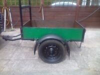 Car trailer 5x3and3ins will carry one ton