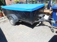 Eight foot x four foot trailer with spare wheel and trailer cover