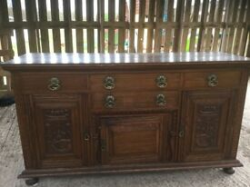 Oak antique sideboard