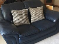 navy leather suite from n/s home very heavy.