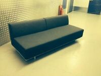 Brand New MUJI 3 Seater Sofa Bed. Double Sofabed. Charcoal Grey, Very Modern & Chic + I CAN DELIVER