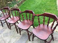 4 x Captain Chairs - solid and vgc