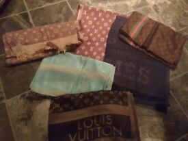 DESIGNER STYLE SCARVES SCARF GUCCI LOUIS VUITTON HERMES NEW XMAS GIFTS