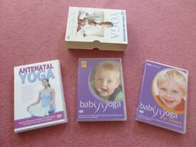 Great set of 3 Yoga dvds - Antenatal, Baby & Toddler Yoga