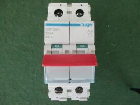 Hager SBR290 100A 2 Pole 400V Mains Switch Disconnector