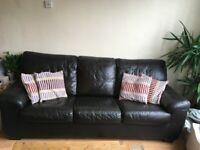 Leather sofa- sofa bed