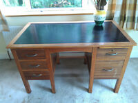Small desk with black inlaid top