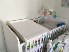 Over cot changing table