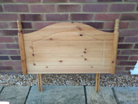 Solid pine headboard for single bed