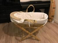 Moses basket, rarely used (from Amazon)