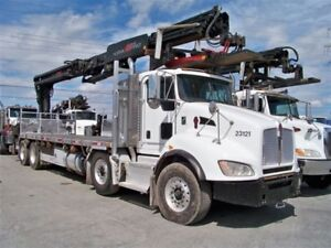 2012 Kenworth  Grue HIAB 435 crane 92 pieds Automatic 12 roues
