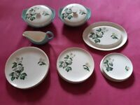 Vintage Palissy Apple Blossom Dinner Set