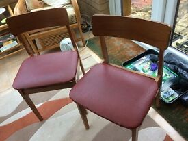 2 sixties style chairs