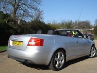 /// AUDI A4 1.8 T SPORT AUTOMATIC CONVERTIBLE/CABRIOLET 54 PLATE /// CHEAP ///