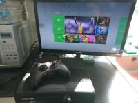 Xbox 360 slim 250gb Boxed and working with 9 games and accessories