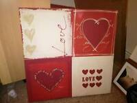 Large love canvas pic