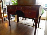 Beautiful Edwardian Mahogany & Inlaid Kneehole Desk & Chair - WE CAN DELIVER