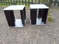 2 x Cd Racks on Swivel Base Delivery Available