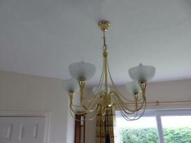 Five branch light fitting.