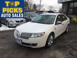 2012 Lincoln MKZ AWD, LEATHER, SUNROOF, CHROME WHEELS, LOW MILEA