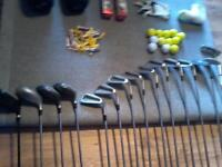 COMPLETE GOLF SET *** WILSON AND HOWSON CLUBS *** Founders Club Bag