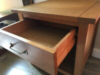 Strong Beautiful Large Oak Bedside Cabinet with Drawer/ Side Table, excellent condition