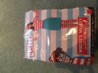 Where's wally female outfit, size M, never worn