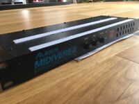 Alesis Midiverb II digital effects processor with power supply