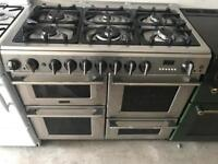 Stainless still cannon 100cm gas cooker grill & double ovens good condition with guarantee