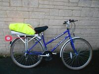 """LADIES HYBRID BIKE FOR SALE, 15 SHIMANO GEARS, 18"""" FRAME, EXC CONDITION, RECENTLY SERVICED"""