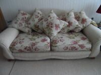 Good quality, large sofa, chair and large footstool.