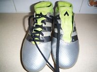PAIR OF BOY'S ADIDAS SOCK FOOTBALL BOOTS. SIZE 2.