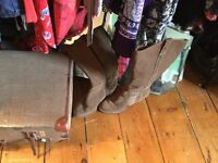 Clarks suede cow girl style boots, size 5 (38)