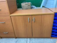 Cherry Desk High Double Door Cupboard, Matching Furniture Available
