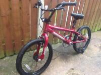 BMX bike from Halfords with stung pegs