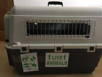 Airline Approved Animal Carrier for Dogs and Cats w/Water Bottles